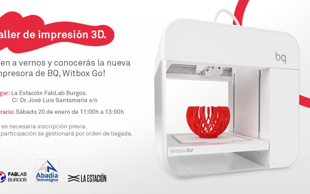 Presentación impresora 3D Witbox go! en Fablab Burgos